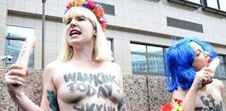 FEMEN'den 'penisli' protesto