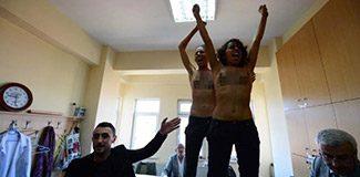 Erdoğan'ı protesto eden FEMEN üyelerine 3 yıl
