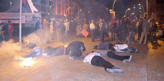 Filistin protestosunda bomba paniği!