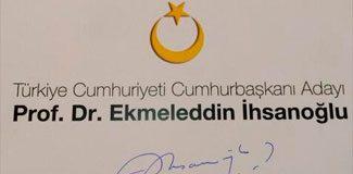 İşte İhsanoğlu'nun seçim logosu!