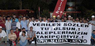 Soma işçileri Ankara'da