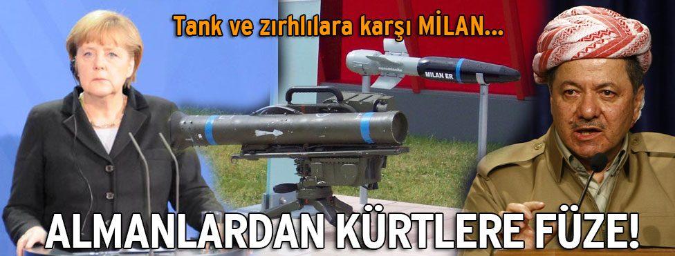Almanya Kürtlere füze gönderiyor