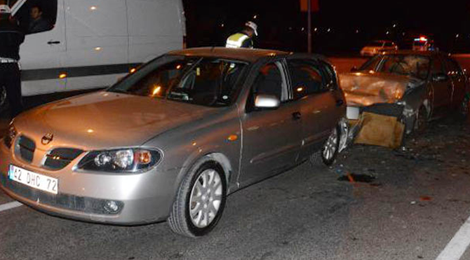 Trafik kazasında 10 yaralı