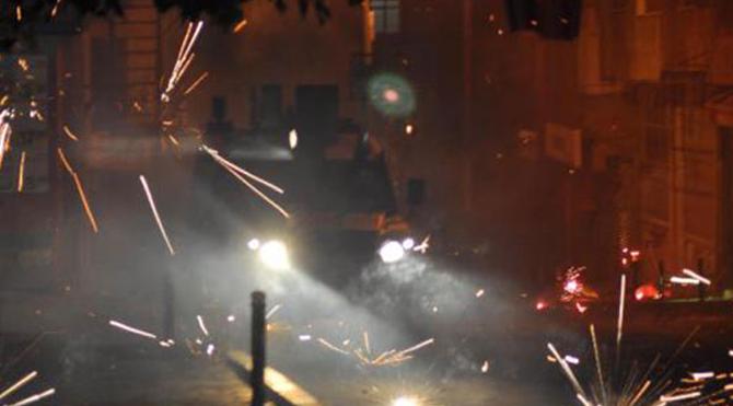 Okmeydanı'nda ki eyleme polis müdahalesi!