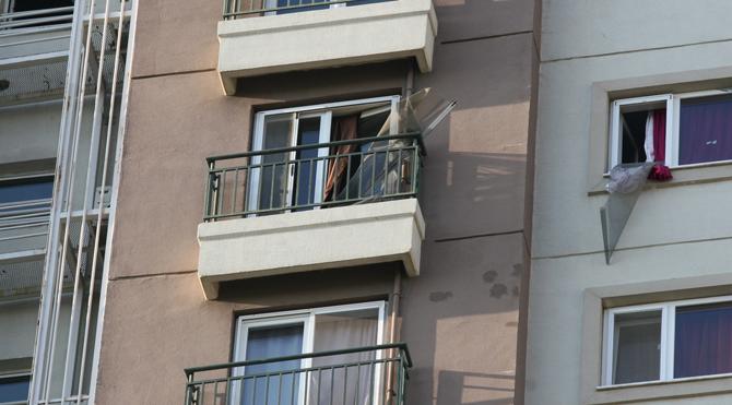 16 katlı apartmanda yangın paniği!