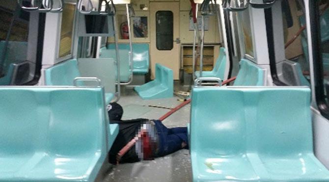 Metroda inanılmaz kaza!