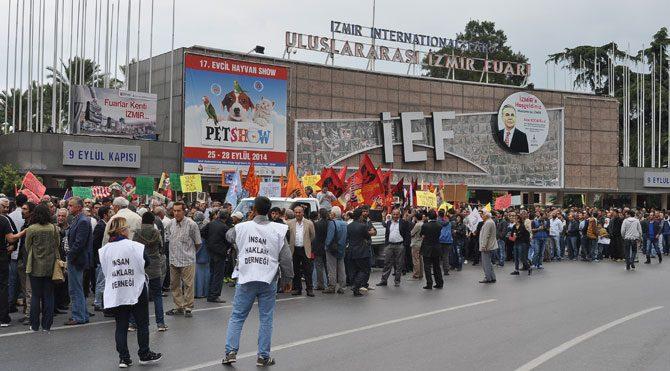 İzmir'de Kobani eylemine TOMA'lı müdahale