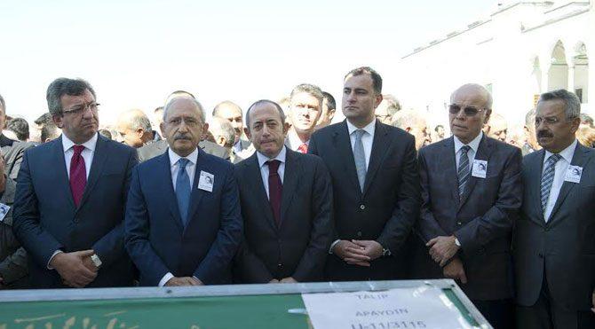CHP lideri Apaydın'ın cenazesinde
