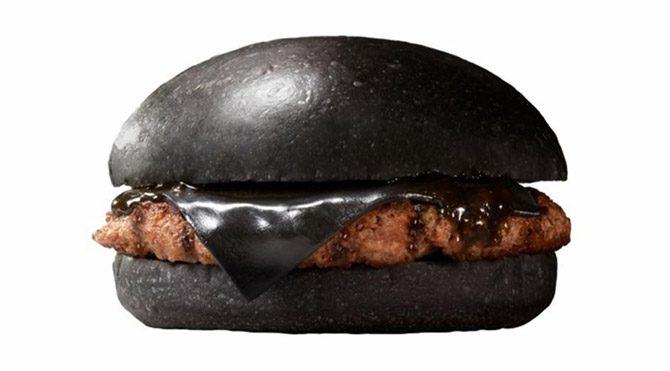 Siyah burgere siyah peynir