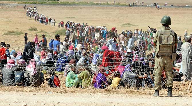 Sınır Suriyelilere açıldı!