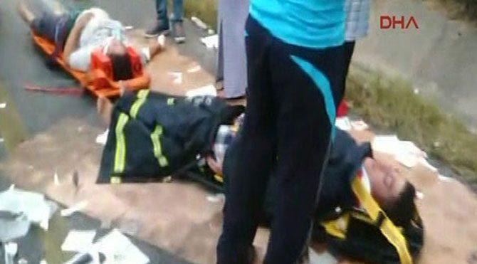 Zincirleme kazada 2 ölü, 10 yaralı