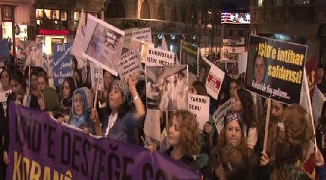 Kadınlardan Kobani eylemi
