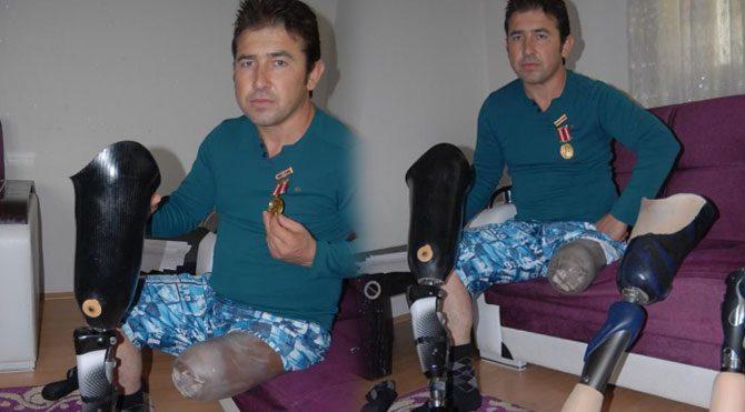 Gazinin protez bacağına haciz!