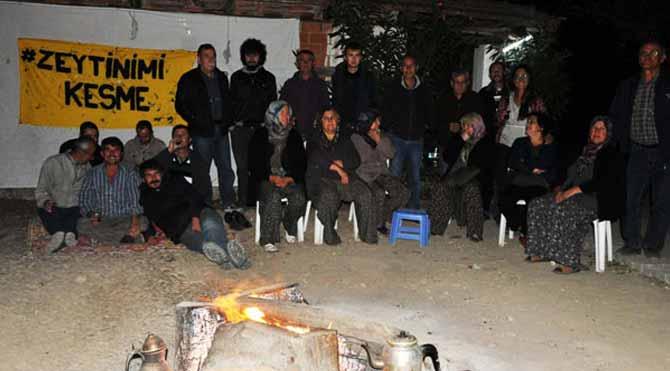 Yırca'da gece nöbeti