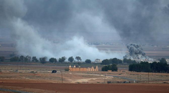 Kobani'deki IŞİD hedefleri bombalandı