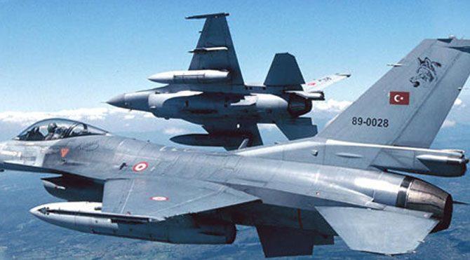 F-16'lar sınırda