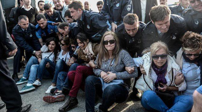Validebağ Korusu'ndan polisten müdahale