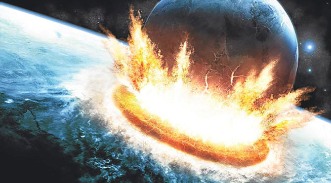 Dünya 485 milyon yıl önce vuruldu