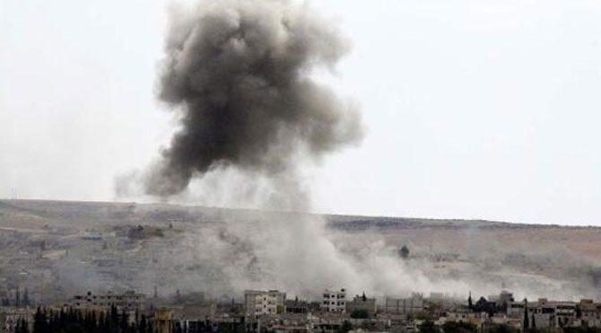 Kobani'de hava saldırısı sürüyor