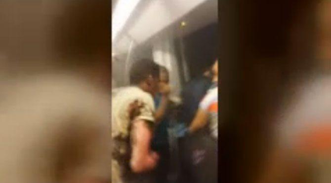 Metroda molotof saldırısı: 11 yaralı