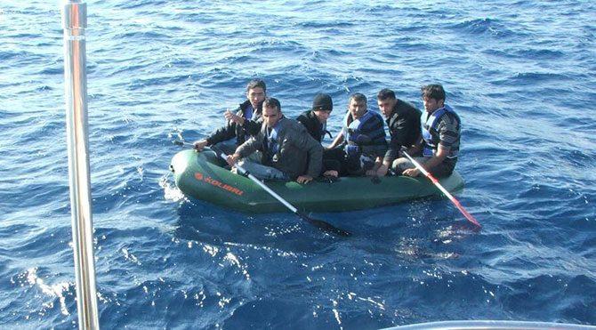 Ege'de 73 kaçak göçmen yakalandı