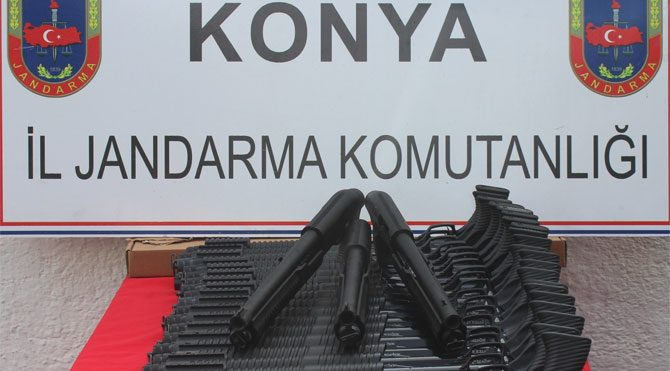 Konya'da silah atölyesine baskın