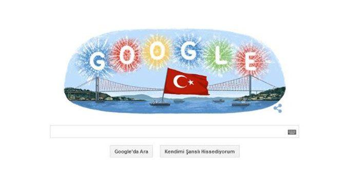 Google, Cumhuriyet Bayramı'nı unutmadı