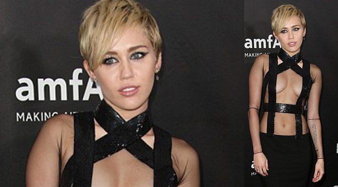 Miley yine fark yarattı