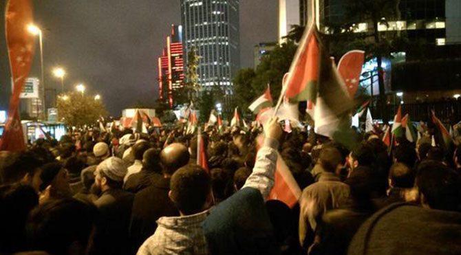 İstanbul'da İsrail protestosu!