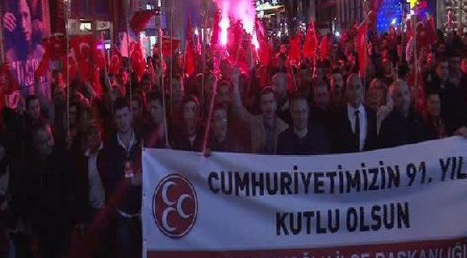 MHP'den meşaleli yürüyüş