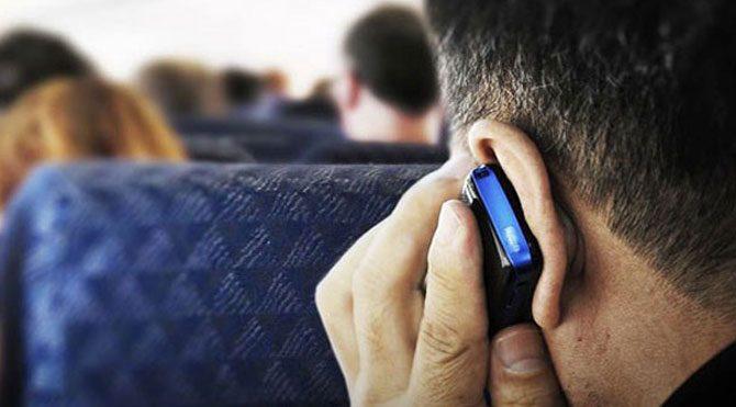 Uçakta cep telefonuna şartlı izin!