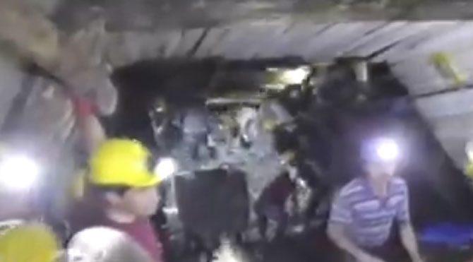 Kameralar madenin içinde