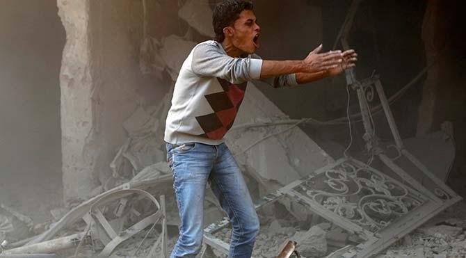 Suriye helikopteri katliam yaptı