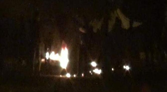 Antalya'da Türk bayrağı yaktılar!