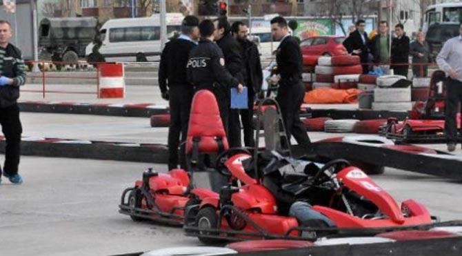Karting kazasında şok karar