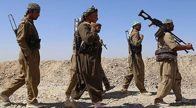Kobani'deki Peşmergelere lahmacun servisi