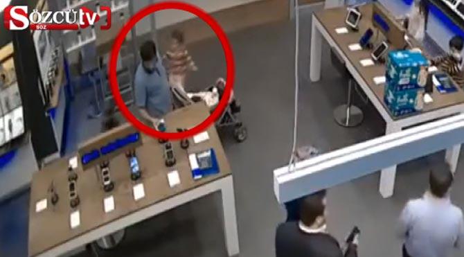Bebekli hırsız yakalandı