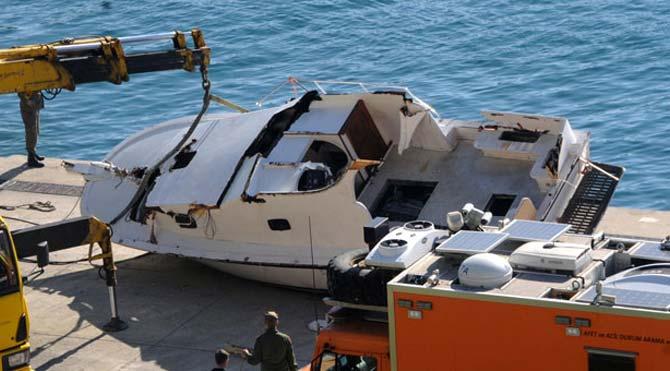 O tekne inceleme için Sahil Güvenlik'te