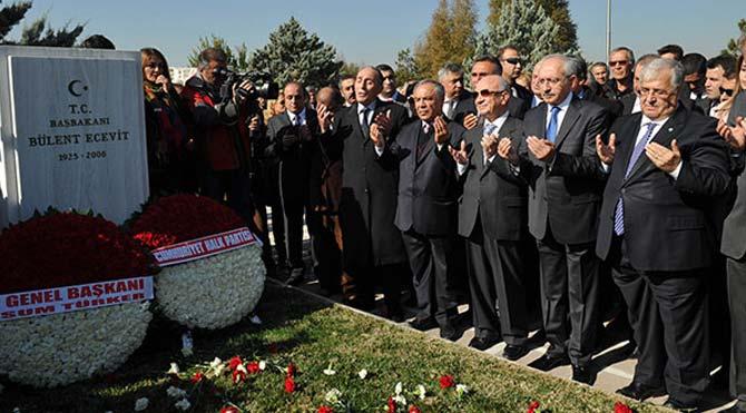Ecevit'i anarken, birlik çağrısı yaptı