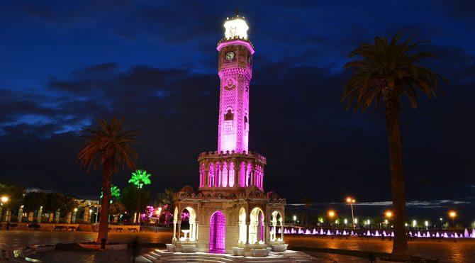 İzmir Saat Kulesi bu defa turuncu olacak