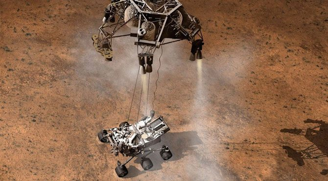 NASA Mars'ta çukur açtı!