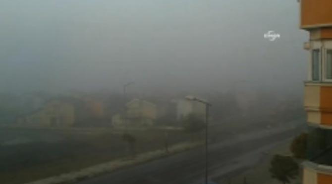 Silivri'de yoğun sis