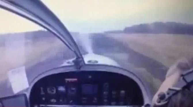 Uçağın düştüğü anlar kamerada