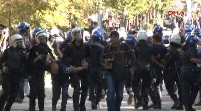 YÖK protestosuna müdahale