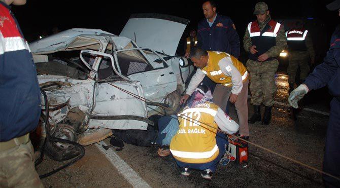 Maraş'ta trafik kazası: 2 ölü, 1 yaralı