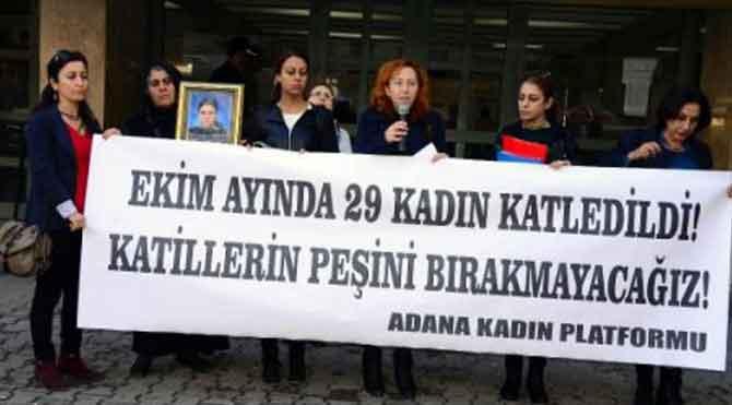 Kadın cinayetlerine protesto