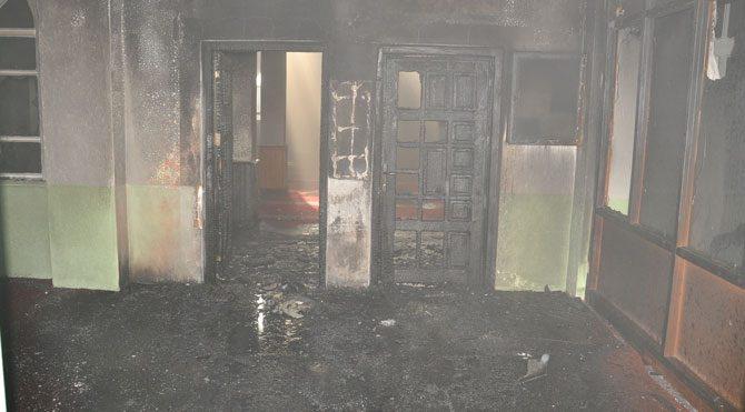 Yozgat'ta cami yangını