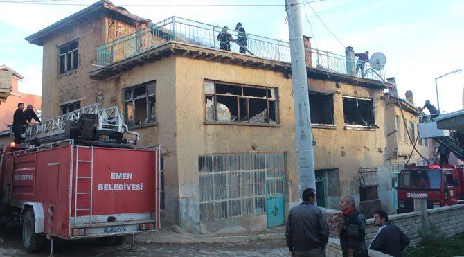 Konya'da ev yangını: 1 ölü