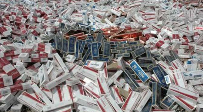 13 bin paket kaçak sigara ele geçirildi