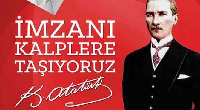 Origami ile Atatürk imzası